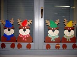 Addobbi per finestre natale scuola primaria