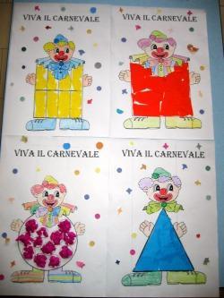 Un pagliaccio geometrico scuola dell 39 infanzia adele for Disegno pagliaccio da colorare