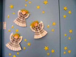 Gli addobbi di natale nella nostra classe scuola dell - Addobbi natalizi per finestre scuola infanzia ...